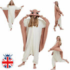 Unisex Adult Animal Onesi7e Cosplay Costume Pyjamas Flying Squirrel Fleece
