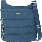baggallini Quilted Big Zipper Bagg Crossbody with RFID Cross-Body Bag NEW