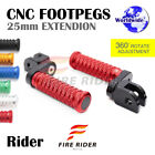 CNC 25mm Extension Front Footpegs POLE For Triumph Speed Triple 955i 99-04 99 00 $47.88 USD on eBay