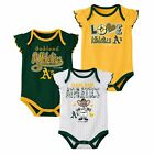 Outerstuff MLB Baseball Infants Oakland Athletics 3 pack Creeper Set on Ebay