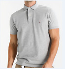 Tommy Hilfiger Short Men's Polo T-shirts For Sale Black White