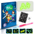 A3/A4/A5 4 IN 1 Draw With Light Writing Pad Kids Drawing Painting Board Kit SU