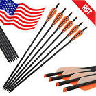 6X 16-22'' Carbon Bolts Arrows Crossbow for Archery Bows Target Shooting Hunting