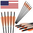 """16-22"""" Carbon Arrows Crossbow Bolts for Archery Bows Hunting Target Shooting"""