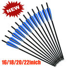 """16-22"""" Carbon Shaft Arrows Crossbow For Hunting Archery Target Hunting Train"""