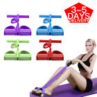 Foot Pedal Pull Rope Resistance 4-Tube Home Fitness Yoga Gym Equipment Sit-up image