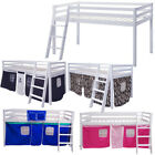 3FT Cabin Bed Mid Sleeper High Bunk Kids Children's Tent Tall Pine Wood Bedstead