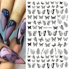 3D Nail Stickers Butterfly Geometric Transfer Decals Nail Art Decoration Paper