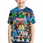 Roblox Face Galaxy Space Game Print Kids T-shirt Casual Short Sleeve Tee Tops