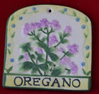 Ceramic Garden Herb Markers with Metal Hanging Hook- Choice of Herbs