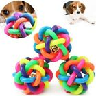 Pet Dogs Colorful Non-toxic Chew Toys with Bells Puppy Funny Interactive  Ball