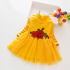 Kids Baby Girls Casual Dress A-line Tulle Princess Birthday Cheongsam Dressses
