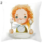 FT- BU_ AU_ Double-sided Print Girl Meditation Pillow Case Cushion Cover Sofa Be