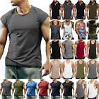 Men's Vest Gym Tank Top Fitness Workout Muscle Sleeveless Singlet T-Shirt Tee image