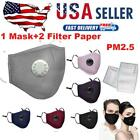 Reusable Washable Face Mask Air Purifying Cotton Mouth Cover PM2.5 Filter