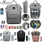 Kyпить LEQUEEN Baby Care Nappy Diaper Bag USB Charging Mummy Stroller Nursing  Backpack на еВаy.соm