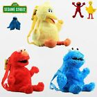Soft Sesame Street Plush Backpack Elmo Cookie Monster Big Bird Toy School Bag