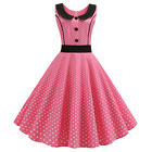 Womens Vintage 50s 60s Rockabilly Swing Pinup Dress Formal Evening Party Dresses