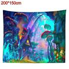 Tapestry Wall Hanging Psychedelic Forest Mushroom House Cover Hippie Home Decor