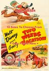 """TWO WEEKS VACATION 1952 Goofy FISHING Golf CAR = MOVIE POSTER 10 Sizes 17"""" - 3FT"""