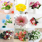 100+ Mixing Artificial Silk Flower Fake Bouquet Phalaenopsis Wedding Home Decor
