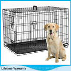 Dog Cage Puppy Pet Crate Carrier - Small Medium Large S M L XL XXL Strong Metal