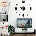 3D Modern DIY Large Number Mirror Wall Sticker Big Watch Home Decor Art Clocks
