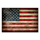 Canvas Wall Art HD Print Vintage American Flag Painting Home Office Decor <br/> 3.5cm Framed & 3 different colors frame choose