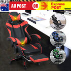 Office Home Gaming Chair Office Executive Racing Seat Pu Leather W/ Footrest L