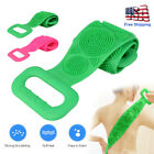 Bathroom Dual Side Back Scrubber Silicone Towel Belt Body Brush Cleaning Tools