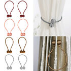 2* Magnetic Clips Curtain Tiebacks Ball Clip Buckle Hoops Holder Tie Home Decor