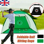 1/2M Foldable Golf Practice Driving Hit Net Cage Training Mat Aid Out/Indoor