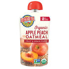 Earth's Best Organic Stage 2, Apple Peach and Oatmeal Baby Food, 4.2 oz. Pouch