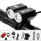 LED Mountain Bike Lights Bicycle Torch Front & Rear Lamp Rechargeable 18650