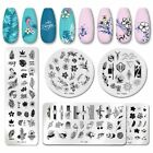 PICT YOU Nail Stamping Plates Flower Leaf Series Plate Stencil Stainless Steel