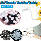 100pcs Cord Locks Stopper Toggles Mask Adjustable Elastic Fastener Sewing Craft