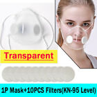 Reusable Clear Face Masks +10xfilters Anti-droplets Respirator Face Mouth Mask