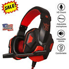 Wired Stereo Bass Surround Gaming Headset Headphone Mic for PS4 New Xbox One PC