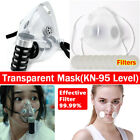 2 Types Transparent Mask Anti-droplets Reusable Face Mouth Cover With Filters