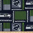 """seattle seahawks fabric 10""""x58"""" NEXT DAY SHIP cotton GOOD FOR MASKS $8.0 USD on eBay"""