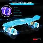 22'' Kids Flashing LED Skateboard Complete Street Long Board Penny Style Scooter image