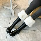 Womens New Fashion Winter Fur Lining Warm Snow Boots Block Mid Heels Knee Boots