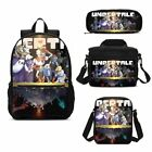 Undertale AU Game Large Schoolbag Backpack Insualted Lunch Bag Pencil Case Lot