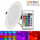 3/5/10W RGB LED Ceiling Light Recessed Panel Downlight Spot Fixtures Lamp+Remote