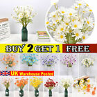 Real Touch Artificial Fake Silk Daisy Flowers Bouquet Party Home Grave Decor Uk
