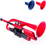 More images of pCornet Plastic Cornet with Carry Bag 2B and 4B Mouthpiece - Bb Student - Red