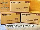 100-Ambitex Poly Disposable Latex-Free Textured Gloves*Bulk*Non-Sterile*XL*U.S.A
