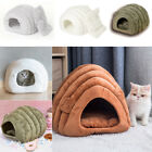 Kitten Cat Bed Cave Cozy Pet Igloo Bed Warm House Nest Kennel Remvoable Cushion