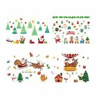 New Window Stickers Santa Claus Christmas Decorations For Home Glass Sticker Set