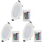 US 5W RGB LED Ceiling Fixtures Light Recessed Panel Downlight Spot Lamp + Remote